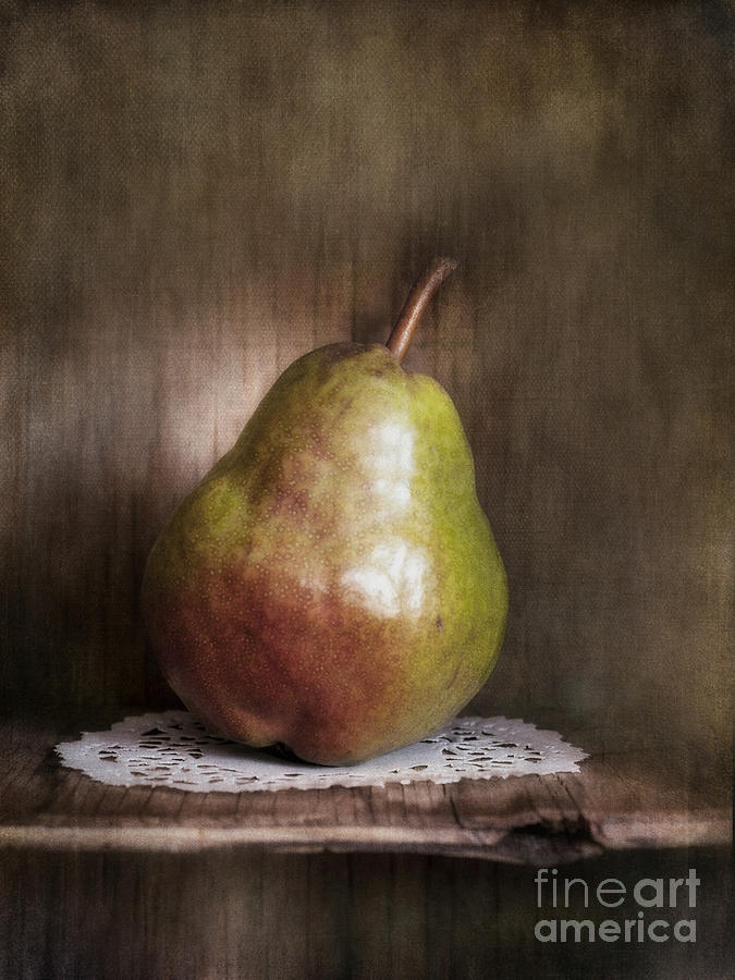 Pear Photograph - Just One by Priska Wettstein