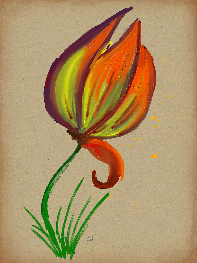 Just One Tulip Painting