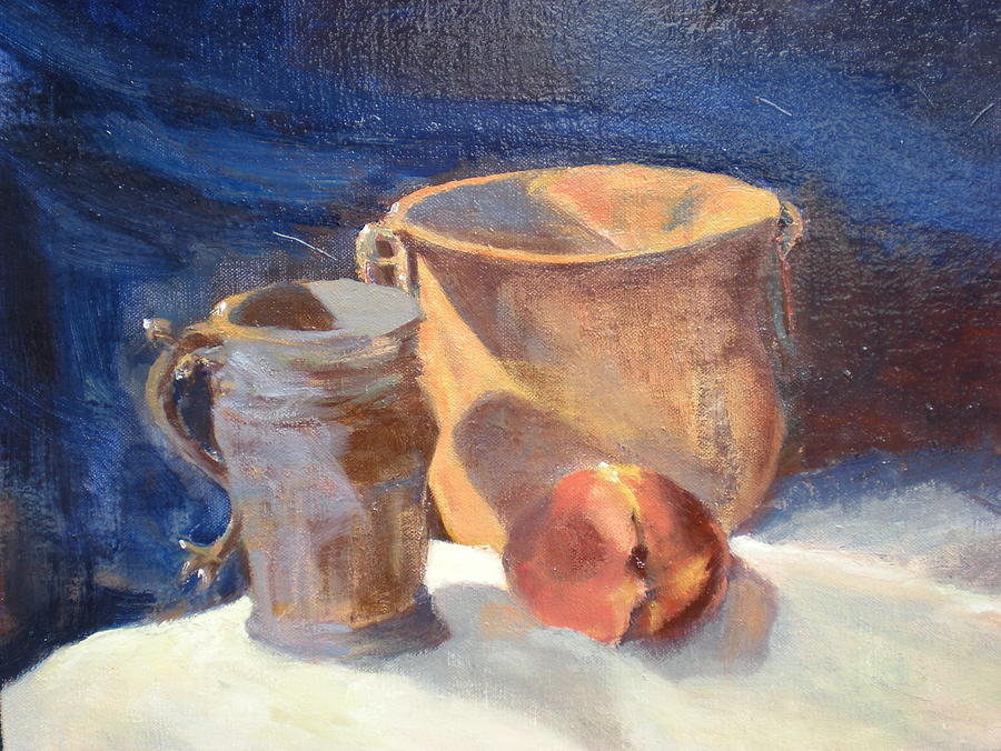 Just Peachy Painting by Bryan Alexander