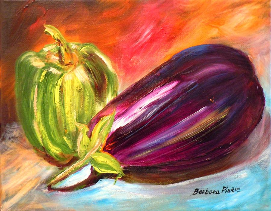 Bell Pepper Painting - Just Picked by Barbara Pirkle