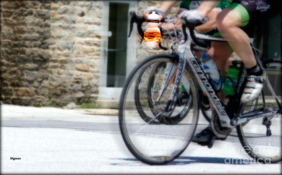 Bicycle Photograph - Just Riding Along by Steven Digman