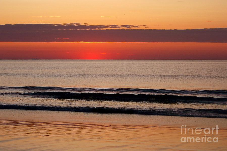 Sunrise Photograph - Just Showing Up Along Hampton Beach by Eunice Miller