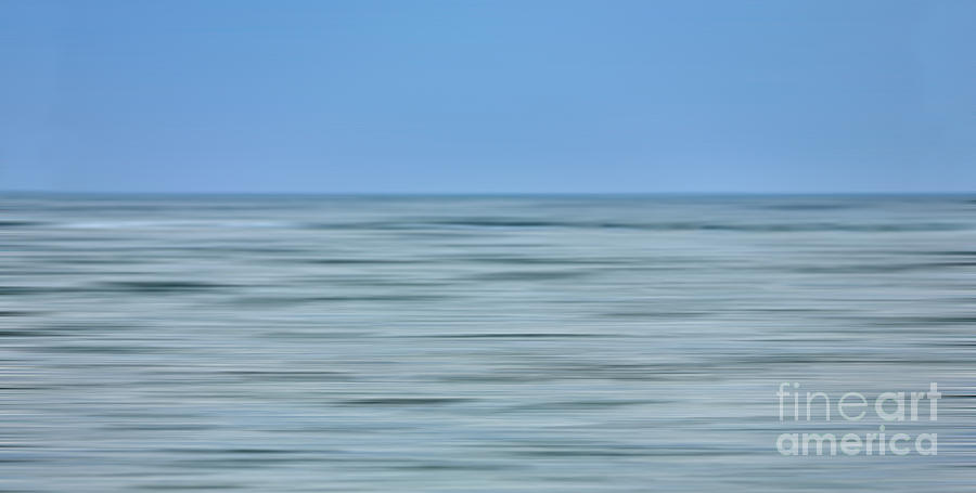 Outer Banks Photograph - Just Sky Just Water - A Tranquil Moments Landscape by Dan Carmichael