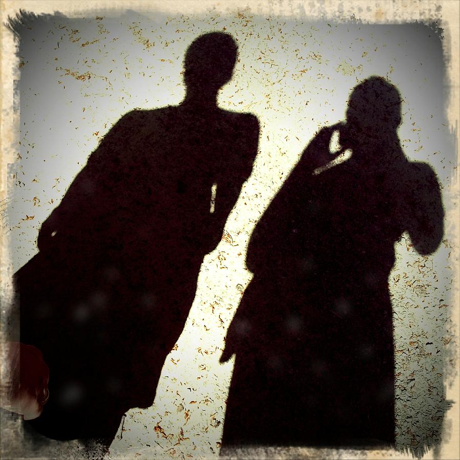 Shadows Photograph - Just the two of us - shadows of a couple by Matthias Hauser