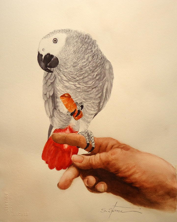 Bird Painting - Just you and me kid by Sandra Stone