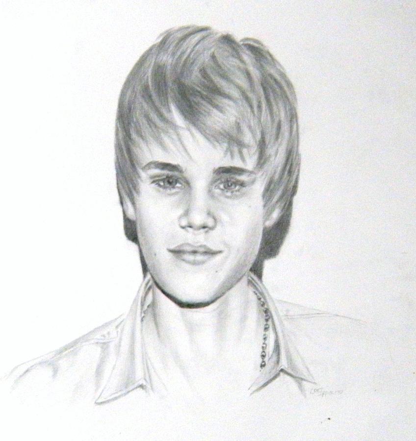 Star Drawing - Justin Bieber by Lori Ippolito