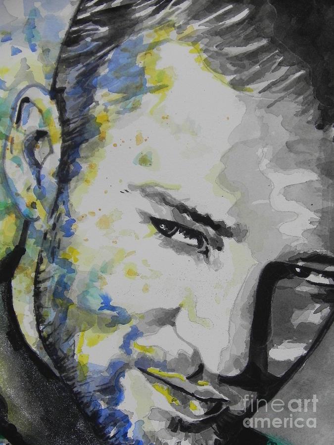 Watercolor Painting Painting - Justin Timberlake...02 by Chrisann Ellis