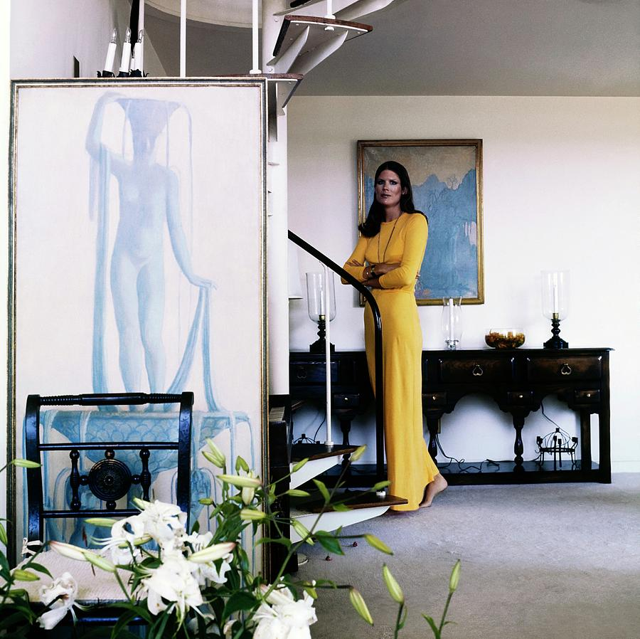 Justine Cushing At Home Photograph by Horst P. Horst