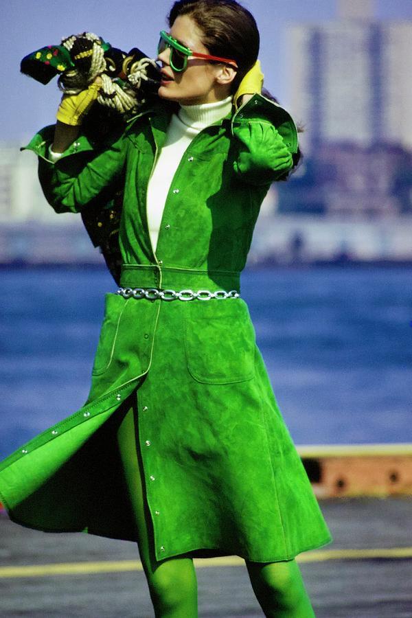 Justine Cushing Wearing Kay Unger Photograph by Gianni Penati
