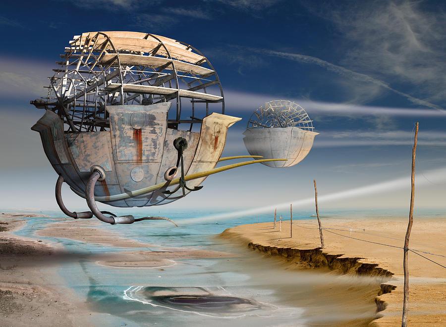 Surreal Digital Art - K202 by Radoslav Penchev