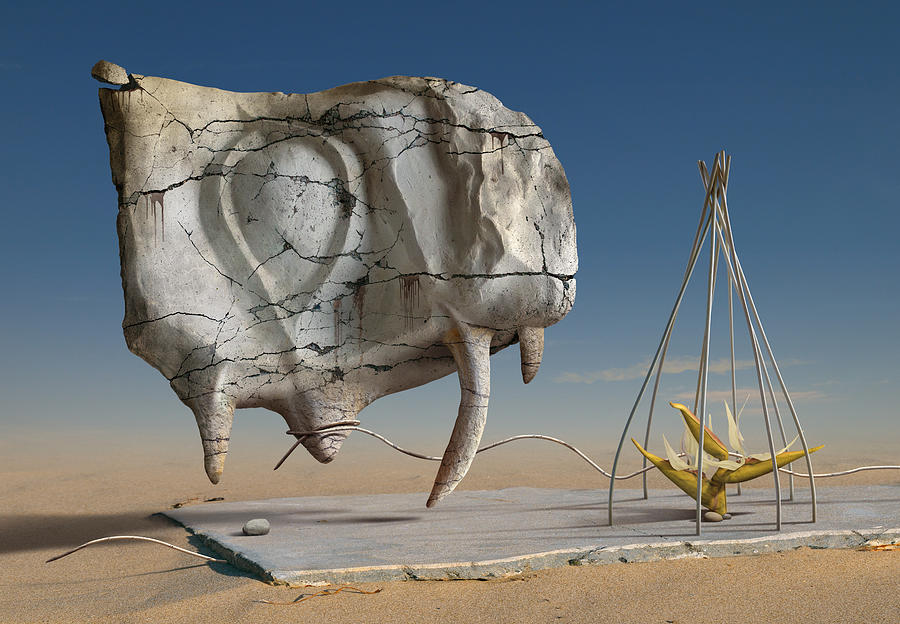 Surreal Digital Art - K217 by Radoslav Penchev