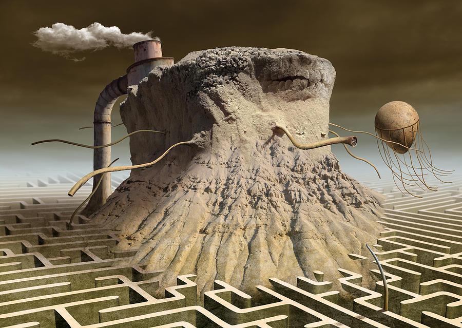 Surreal Digital Art - K313 by Radoslav Penchev