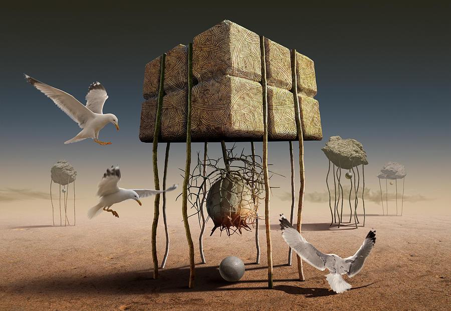 Surreal Digital Art - K314 by Radoslav Penchev