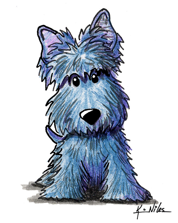 K9 Keanu Scottie Terrier Drawing By Kim Niles