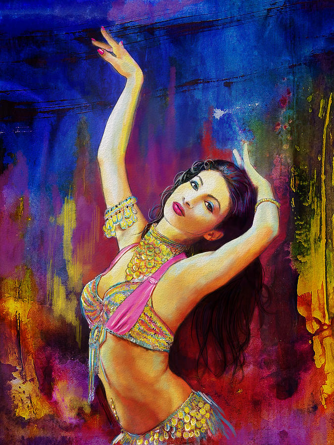 Belly Dance Art Painting - Kaatil Haseena by Corporate Art Task Force