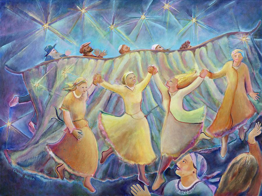 Kabbalat Shabbat Painting - Kabbalat Shabbat 3 by Chana Helen Rosenberg