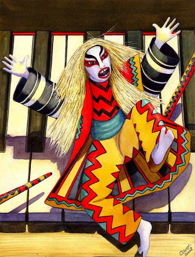 Kabuki Painting - Kabuki Chopsticks 3 by Catherine G McElroy