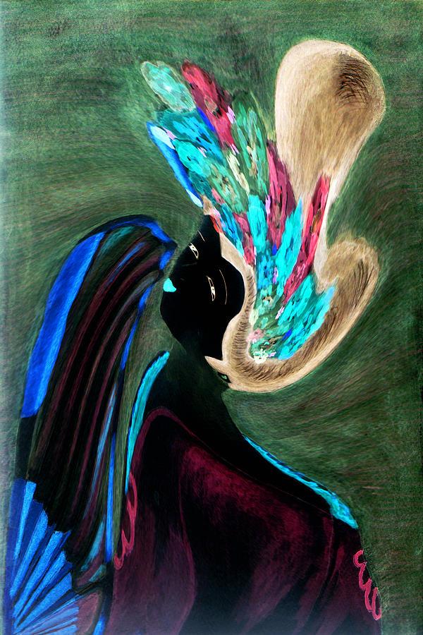 Japanese Painting - Kabuki Theatre Gone Wild by Paula Ayers