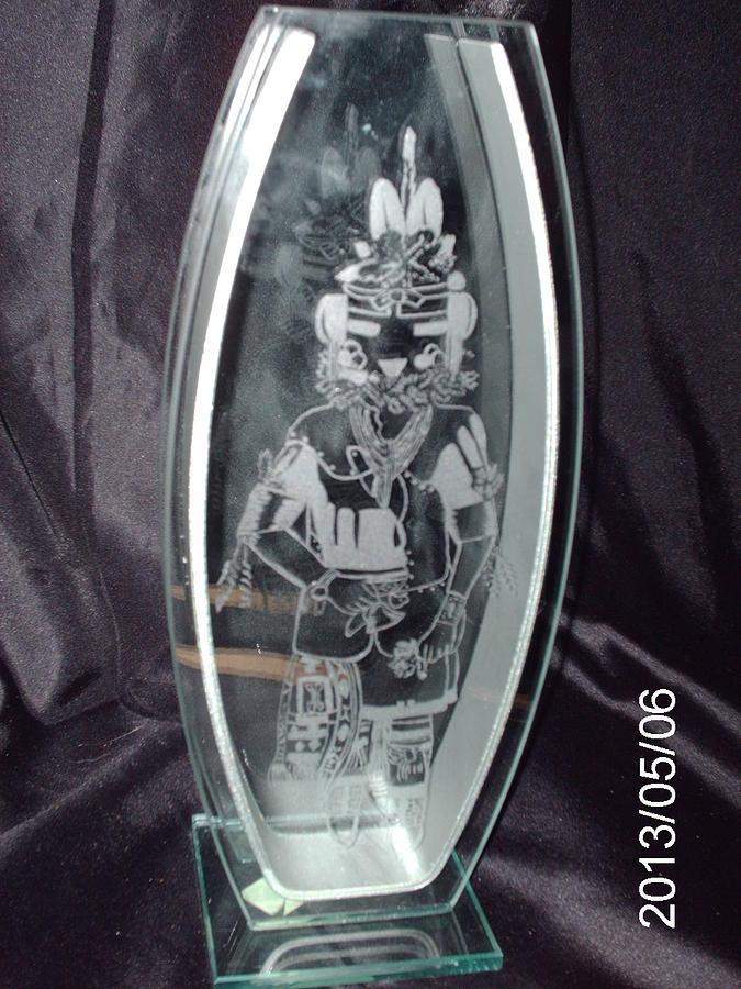 Crop Glass Art - Kachina by Ralph Renick