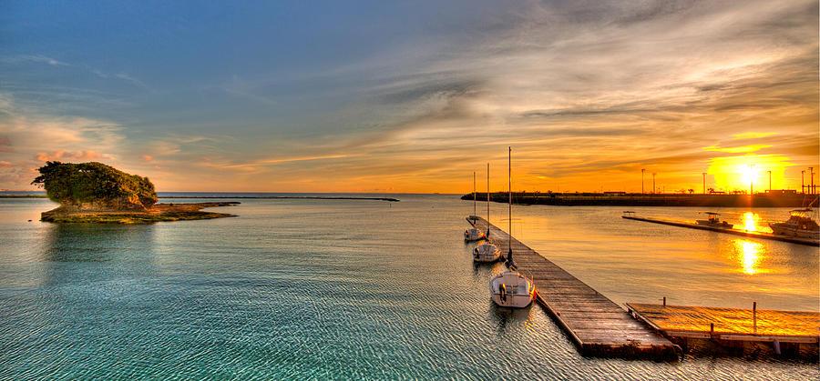 Sunset Photograph - Kadena Marina Sunset by Chris Rose