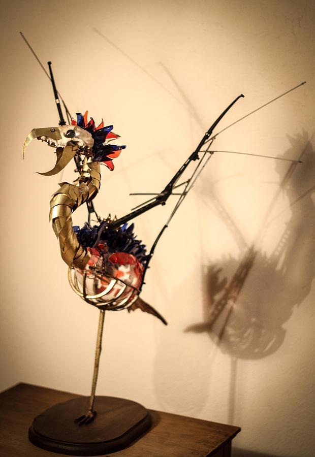 Steampunk Sculpture - KaF by Oscar Cabral