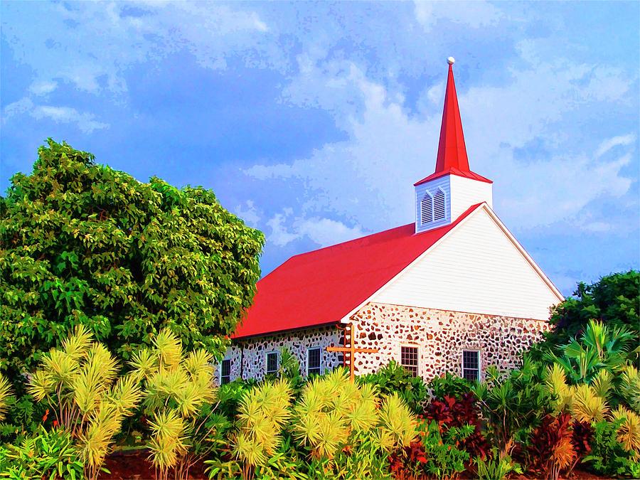 Church Mixed Media - Kahikolu Congregational by Dominic Piperata