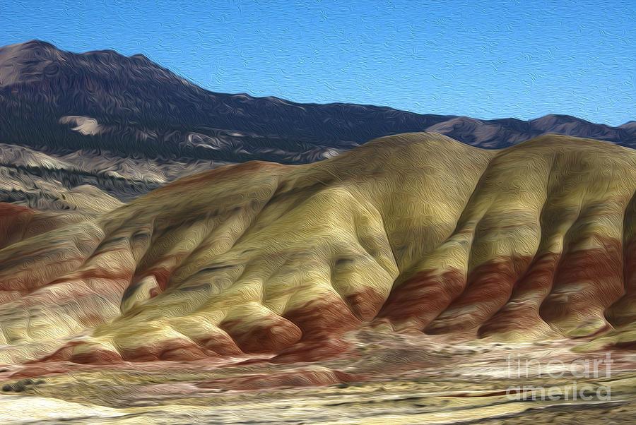 Painted Hills Digital Art - Kahneeta Hills by Nur Roy