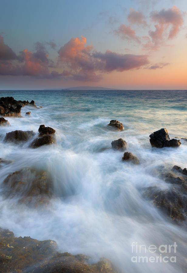 Kahoolawe Photograph - Kahoolawe Sunset by Mike Dawson