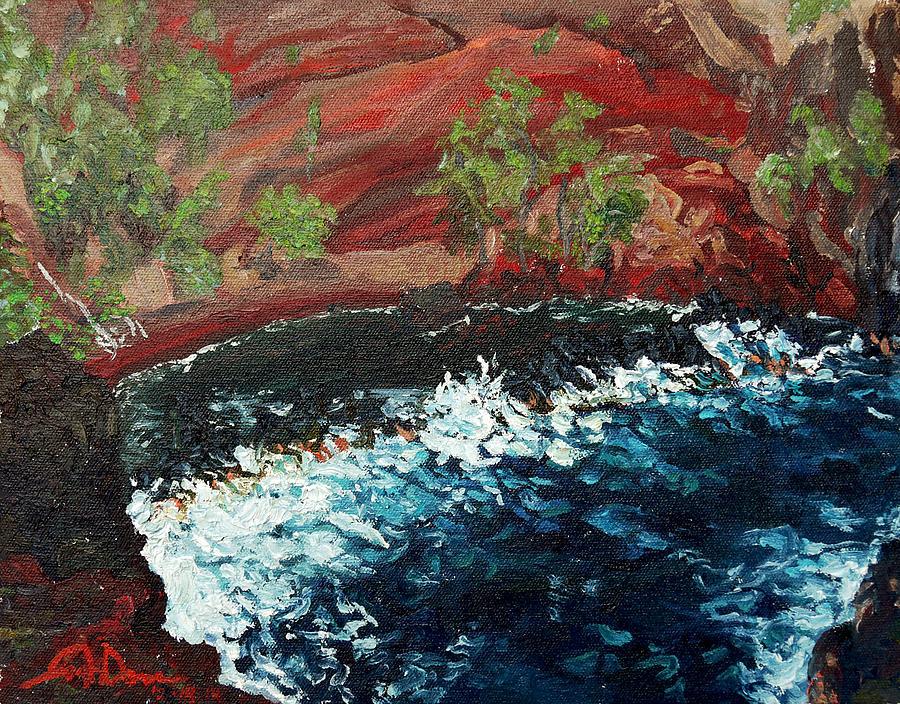 Beach Painting - Kaihalulu Beach by Joseph Demaree