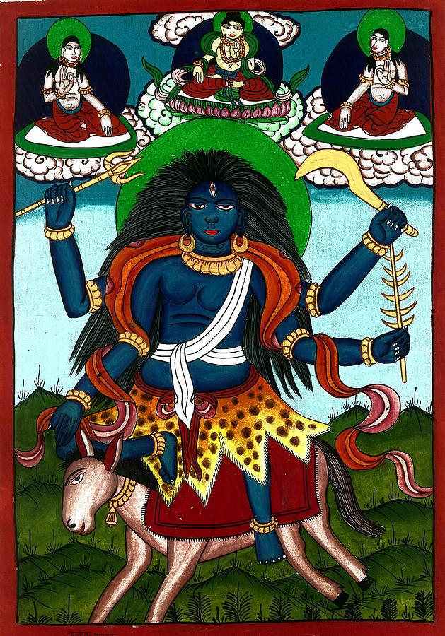 Death Painting - Kal Ratri by Ashok Kumar