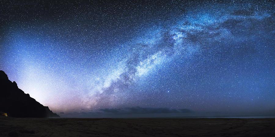 Astrophotography Photograph - Kalalau Beach Galaxy by Bryan Toro