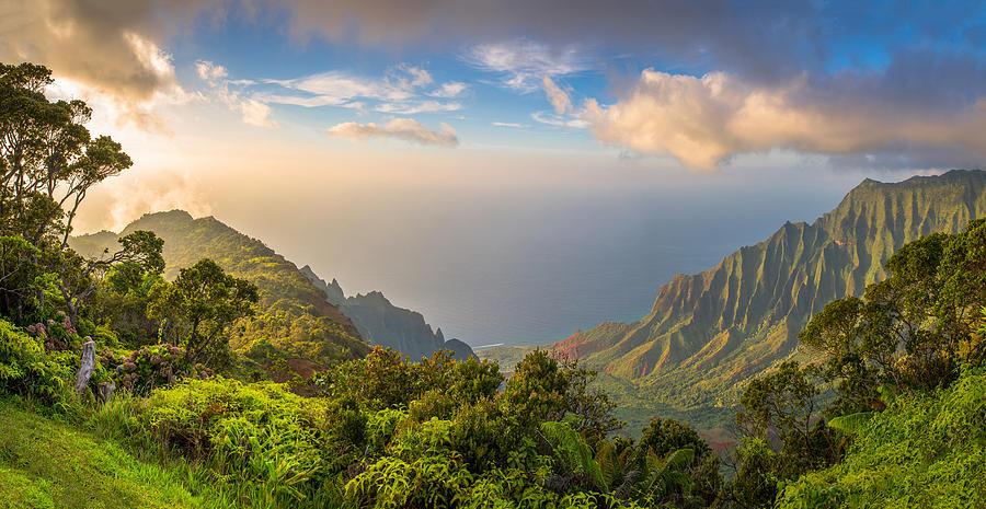 Kalalau Lookot view Photograph by HaizhanZheng