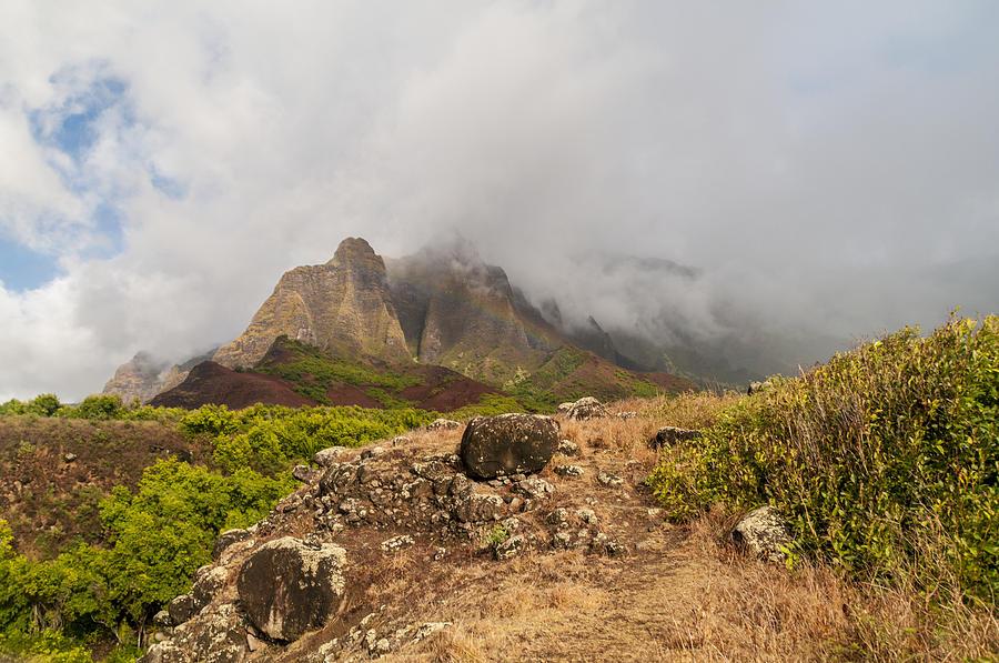 Na Pali Coast Photograph - Kalalau Valley Rainbow - Kauai Hawaii by Brian Harig