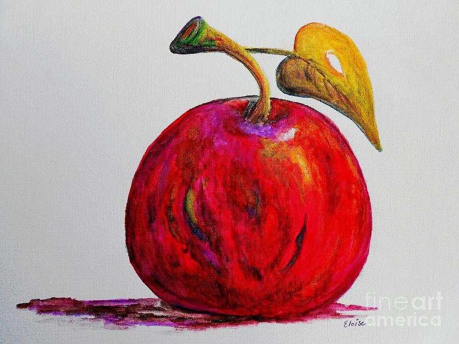 Apple Painting - Kaleidoscope Apple -- Or -- Apple For The Teacher  by Eloise Schneider