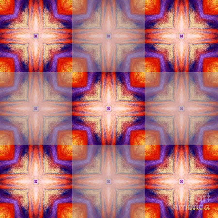 Painting Digital Art - Kaleidoscope Combo 5 by Louise Lamirande