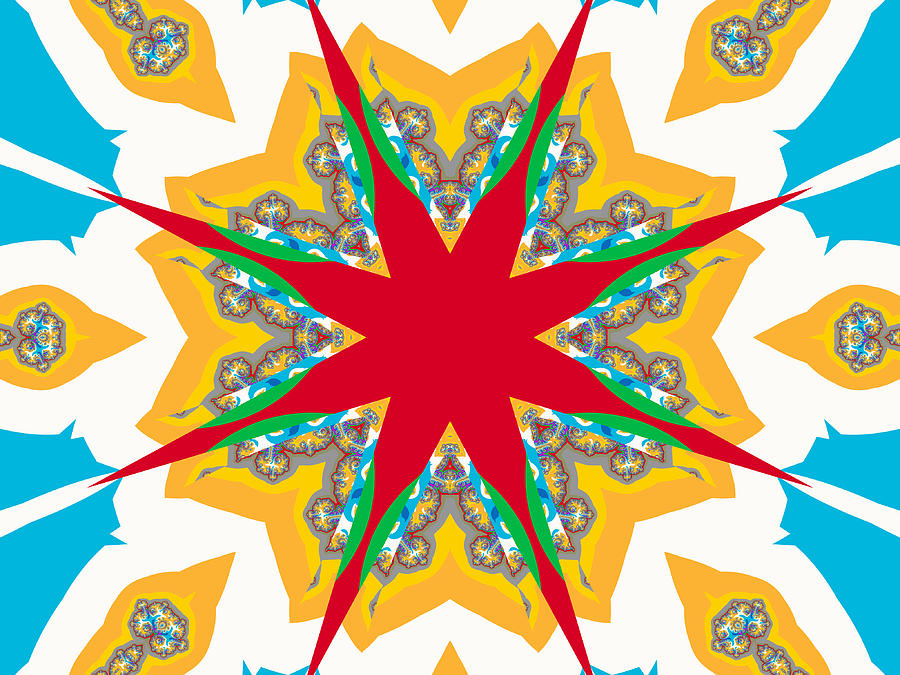 Fractal Digital Art Digital Art - Kaleidoscope Fractal by Ester  Rogers