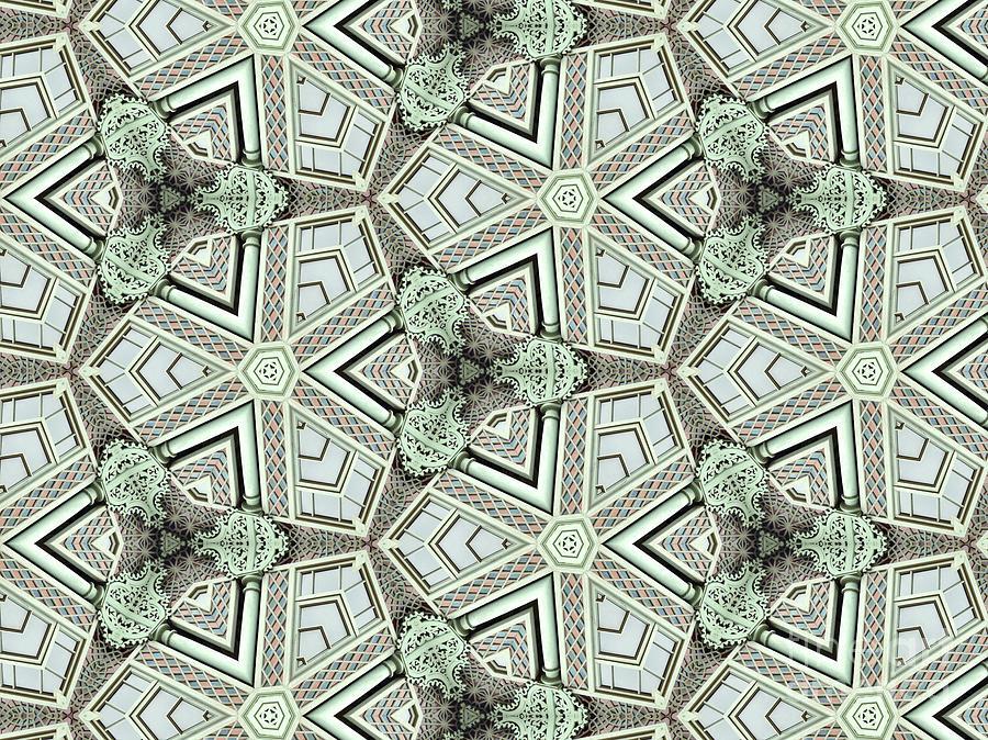 Kaleidoscope Photograph - Kaleidoscope In Light Green by Agnieszka Kubica
