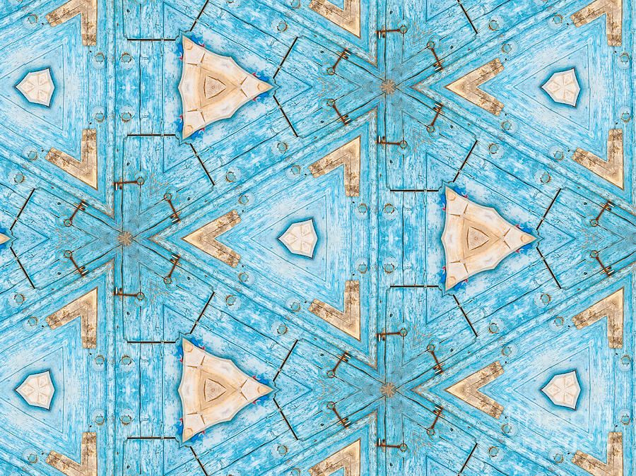 Turquoise Photograph - Kaleidoscope In Turquoise by Agnieszka Kubica