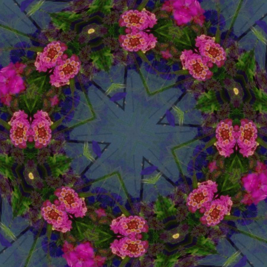 Kaleidoscope Photograph - Kaleidoscope Lantana Wreath by Cathy Lindsey
