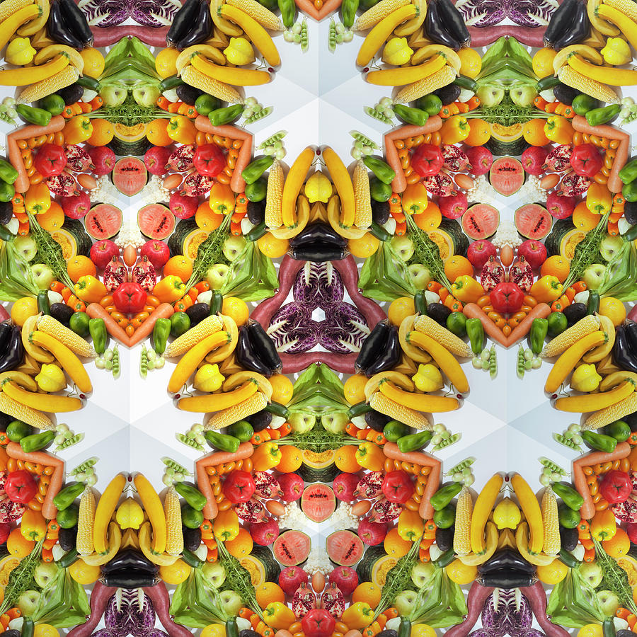 Kaleidoscope Of Colorful Vegetables And Photograph by Hiroshi Watanabe