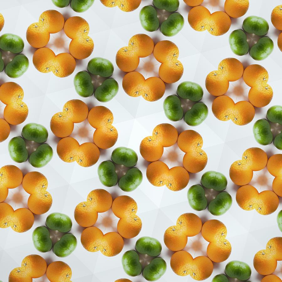 Kaleidoscope Of Grapefruits And Limes Photograph by Hiroshi Watanabe