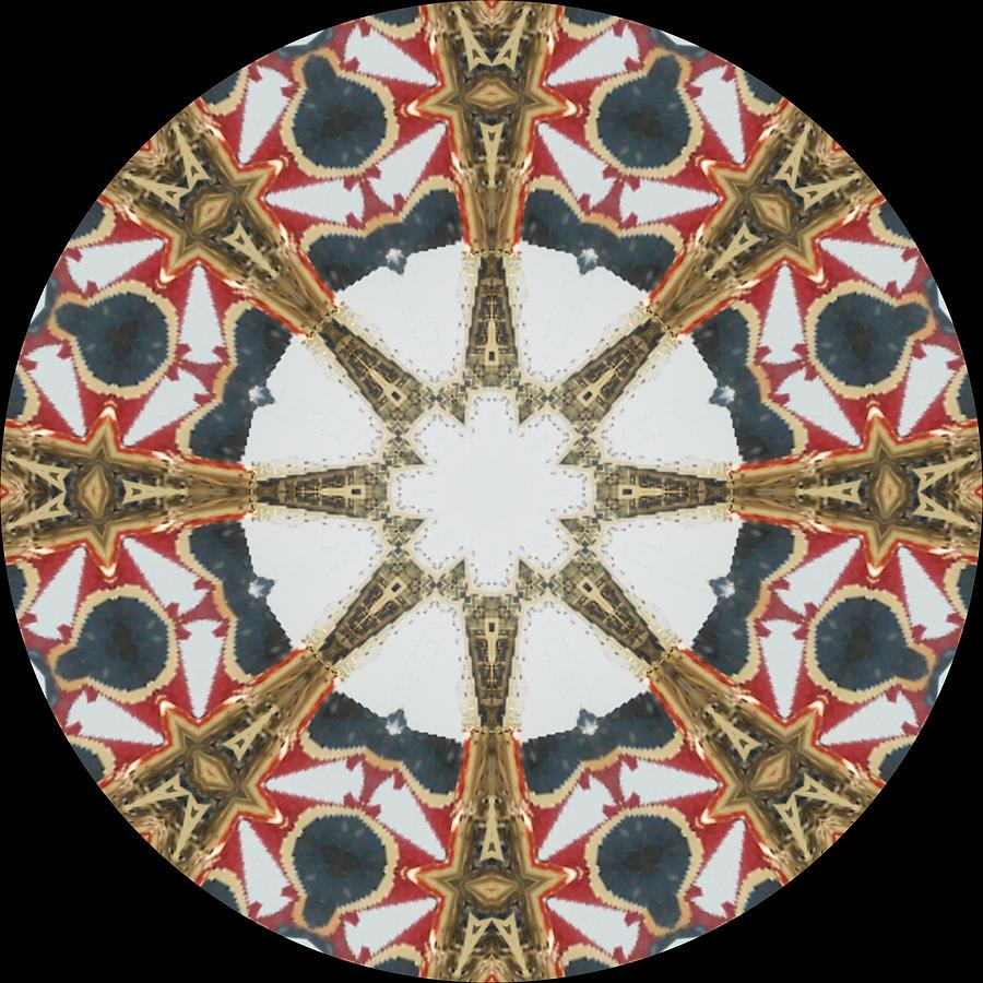 Kaleidoscope Photograph - Kaleidoscope Wheel by Cathy Lindsey