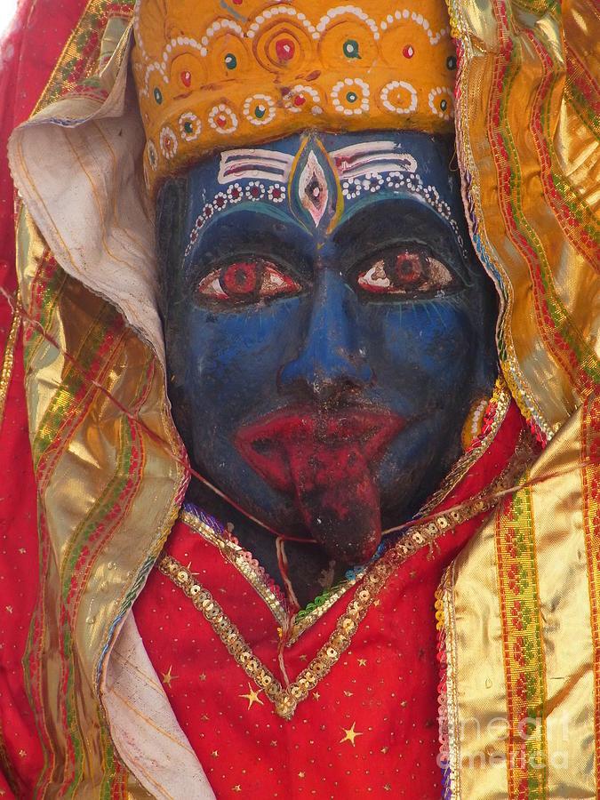 God Photograph - Kali Maa - Glance Of Compassion by Agnieszka Ledwon