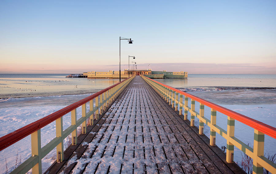 Kallbadhuset Pier At Dusk Photograph by Secablue