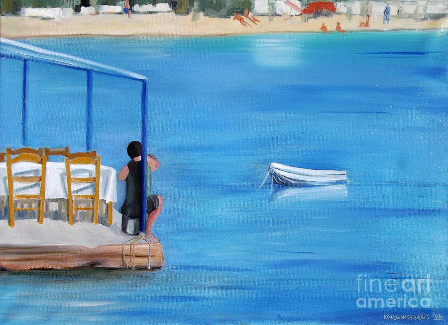 Greece Painting - Kalos Yalos by Kostas Koutsoukanidis