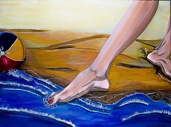 Strand Painting - Kalt by Mamu Art