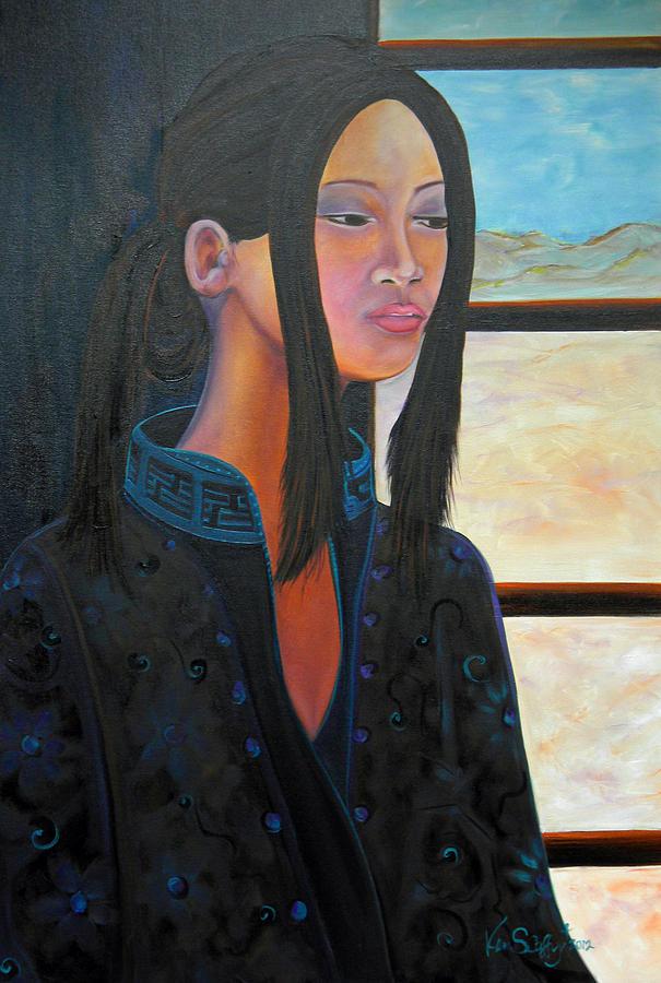 Ethnic Painting - Kamono by Ken Caffey