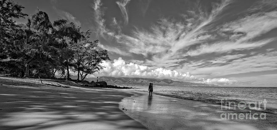 Kanaha Photograph - Kanaha Beach Maui Hawaii Panoramic by Edward Fielding