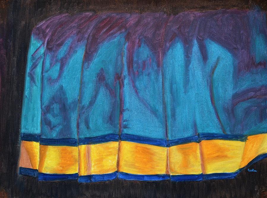Kancheepuram Painting - Kanchi Saree by Usha Shantharam