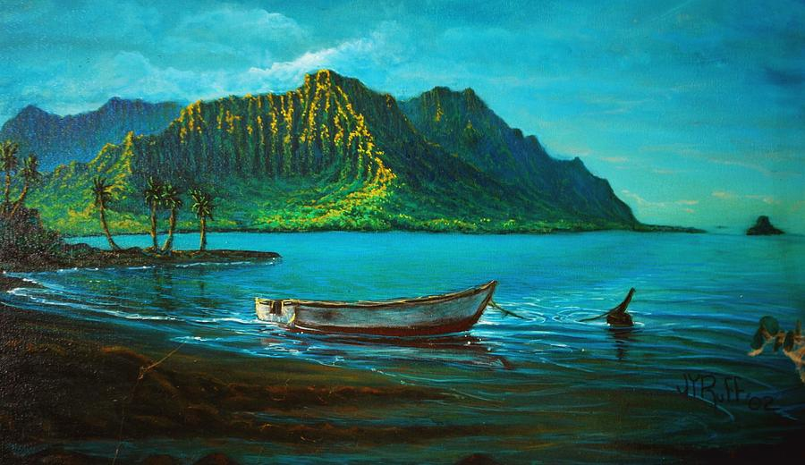 Kaneohe Bay Early Morn 1 Painting by Joseph   Ruff